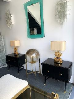 Vittorio Dassi Pair of Lacquered and Bronze End Tables by Vittorio Dassi Italy 1950s - 1078396