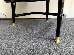 Vittorio Dassi Pair of Lacquered and Bronze End Tables by Vittorio Dassi Italy 1950s - 1078398