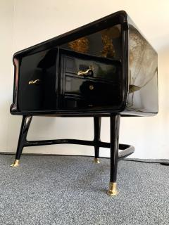 Vittorio Dassi Pair of Lacquered and Bronze End Tables by Vittorio Dassi Italy 1950s - 1078401