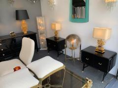 Vittorio Dassi Pair of Lacquered and Bronze End Tables by Vittorio Dassi Italy 1950s - 1078402