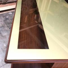Vittorio Dassi Rare Italian Executive Desk with Floating Glass Top by Vittorio Dassi 1950s - 664145