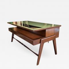 Vittorio Dassi Rare Italian Executive Desk with Floating Glass Top by Vittorio Dassi 1950s - 664422