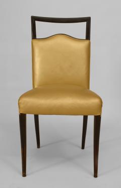 Vittorio Dassi Set of 6 Italian 1950s Walnut Maple Side Chairs - 424746