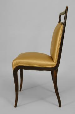 Vittorio Dassi Set of 6 Italian 1950s Walnut Maple Side Chairs - 424748
