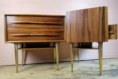 Vittorio Dassi Vittorio Dassi Pair of End Tables Nightstands Italy circa1955 - 1300940
