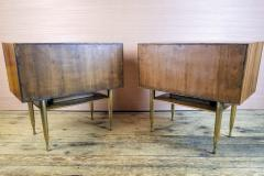 Vittorio Dassi Vittorio Dassi Pair of End Tables Nightstands Italy circa1955 - 1300945