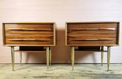 Vittorio Dassi Vittorio Dassi Pair of End Tables Nightstands Italy circa1955 - 1300948