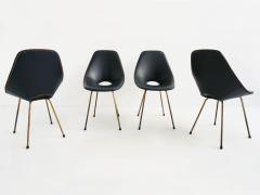Vittorio Nobili Set of 4 Vittorio Nobili Medea Chairs in Blue Navy Faux Leather - 772440