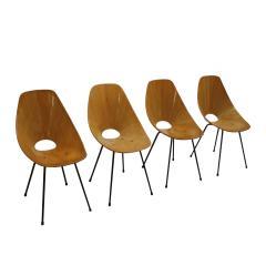 Vittorio Nobili Vittorio Nobili Medea 1950s Italian Set of Four Chairs - 1991972