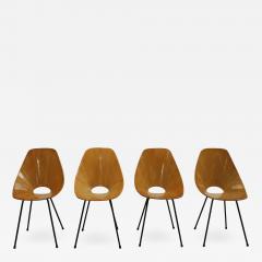 Vittorio Nobili Vittorio Nobili Medea 1950s Italian Set of Four Chairs - 1995160