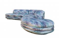 Vladimir Kagan Biomorphic Sectional Sofa in Wild 80 s Upholstery - 1609697
