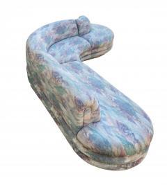 Vladimir Kagan Biomorphic Sectional Sofa in Wild 80 s Upholstery - 1609700
