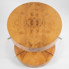 Vladimir Kagan Burl and acrylic center table attributed to Vladimir Kagan circa 1970s - 964493