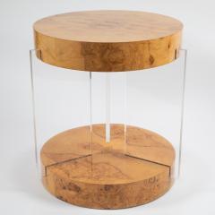 Vladimir Kagan Burl and acrylic center table attributed to Vladimir Kagan circa 1970s - 964496