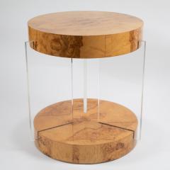 Vladimir Kagan Burl and acrylic center table attributed to Vladimir Kagan circa 1970s - 964503