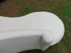 Vladimir Kagan Fabulous Vladimir Kagan White Leather Scrolled Arm Cloud Sofa Weiman 1980s - 1444814