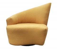 Vladimir Kagan Mid Century Modern Pair of Slipper Swivel Lounge Chairs by Vladimir Kagan - 1946015