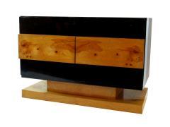 Vladimir Kagan Pair of American Modern Black Lacquer and Burled Wood Credenza Vladimir Kagan - 1204328