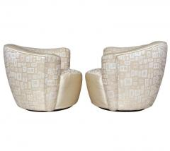 Vladimir Kagan Pair of Mid Century Modern Swivel Lounge Nautilus Chairs by Vladimir Kagan - 1939518
