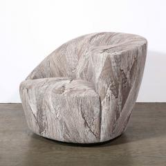 Vladimir Kagan Pair of Swiveling Nautilus Chairs by Vladimir Kagan in Holly Hunt Fabric - 2004810
