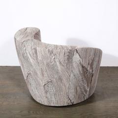 Vladimir Kagan Pair of Swiveling Nautilus Chairs by Vladimir Kagan in Holly Hunt Fabric - 2004811
