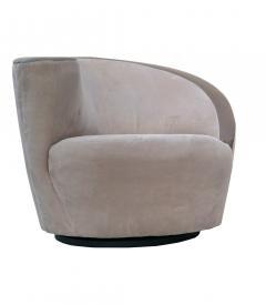 Vladimir Kagan Pair of Vladimir Kagan Corkscrew Lounge Swivel Chairs for Directional - 1817085