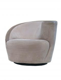 Vladimir Kagan Pair of Vladimir Kagan Corkscrew Lounge Swivel Chairs for Directional - 1817086