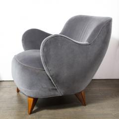 Vladimir Kagan Pair of Vladimir Kagan Mid Century Barrel Chairs Designed Documented 1947 - 1950004