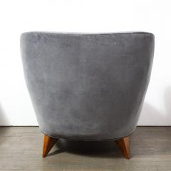 Vladimir Kagan Pair of Vladimir Kagan Mid Century Barrel Chairs Designed Documented 1947 - 1950005