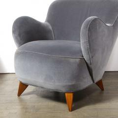 Vladimir Kagan Pair of Vladimir Kagan Mid Century Barrel Chairs Designed Documented 1947 - 1950006