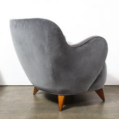 Vladimir Kagan Pair of Vladimir Kagan Mid Century Barrel Chairs Designed Documented 1947 - 1950017
