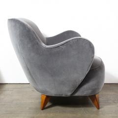 Vladimir Kagan Pair of Vladimir Kagan Mid Century Barrel Chairs Designed Documented 1947 - 1950018