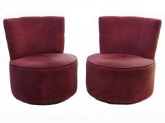 Vladimir Kagan Pair of Vladimir Kagan Pucci La Ronde Style Swivel Chairs 2 Pairs Available - 1789086