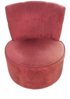 Vladimir Kagan Pair of Vladimir Kagan Pucci La Ronde Style Swivel Chairs 2 Pairs Available - 1789087