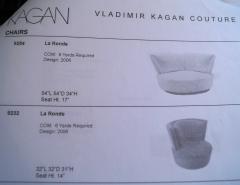 Vladimir Kagan Pair of Vladimir Kagan Pucci La Ronde Style Swivel Chairs 2 Pairs Available - 1789099
