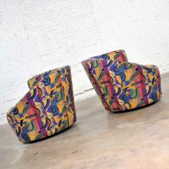 Vladimir Kagan Pair of asymmetric nautilus swivel chairs in style of vladimir kagan - 1609060