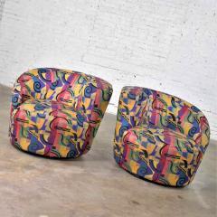 Vladimir Kagan Pair of asymmetric nautilus swivel chairs in style of vladimir kagan - 1609066