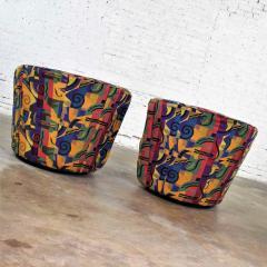 Vladimir Kagan Pair of asymmetric nautilus swivel chairs in style of vladimir kagan - 1609103