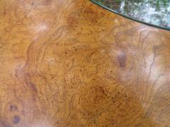 Vladimir Kagan Stunning Vladimir Kagan Lucite and Burl Walnut Coffee Table Mid Century - 1032245