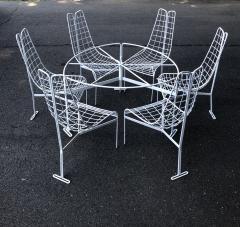 Vladimir Kagan Vladimir Kagan Capricorn Iron Table with six Capricorn chairs - 1954398