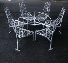 Vladimir Kagan Vladimir Kagan Capricorn Iron Table with six Capricorn chairs - 1954399