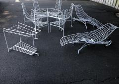 Vladimir Kagan Vladimir Kagan Capricorn Iron Table with six Capricorn chairs - 1954402
