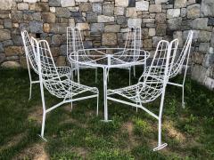 Vladimir Kagan Vladimir Kagan Capricorn Iron Table with six Capricorn chairs - 1954403