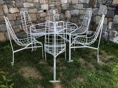 Vladimir Kagan Vladimir Kagan Capricorn Iron Table with six Capricorn chairs - 1954404
