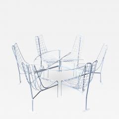 Vladimir Kagan Vladimir Kagan Capricorn Iron Table with six Capricorn chairs - 1955257