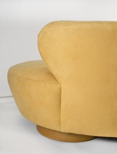 Vladimir Kagan Vladimir Kagan Cloud Sofa for Directional with Oak Pedestal Base - 1725865