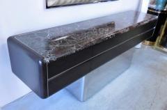 Vladimir Kagan Vladimir Kagan Console Credenza with Marble Top and Polished Base - 598000