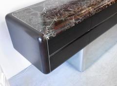 Vladimir Kagan Vladimir Kagan Console Credenza with Marble Top and Polished Base - 598001
