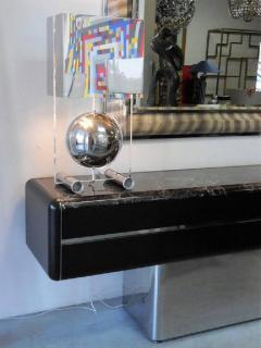 Vladimir Kagan Vladimir Kagan Console Credenza with Marble Top and Polished Base - 598008