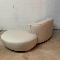 Vladimir Kagan Vladimir Kagan Oyster Linen Serpentine Cloud Chaise Lounge Sofa USA 1970s - 1597507